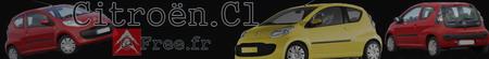 Bannière d'accueil du site sur la Citroën C1