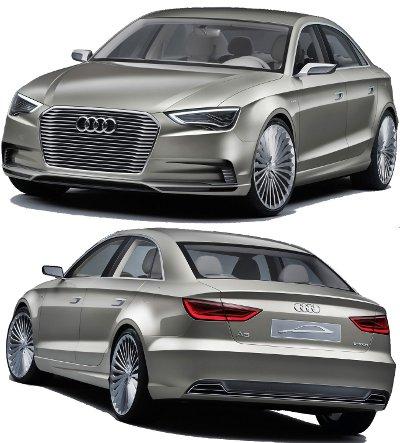 Présentation du concept-car Audi A3 E-Tron Concept, qui préfigure la future Audi A3..