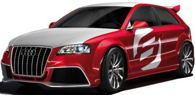 Présentation du concept car Audi A3 TDI Clubsport Quattro, un coupé sportif sur base de A3 et à motorisation diesel (2,0L TDI, 240 ch, 450 N.m de couple).