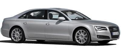 Présentation de la nouvelle génération d'Audi A8L, version allongée de plus de 7cm de l'Audi A8, et essentiellement destinée au marché chinois..