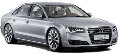 Présentation de la première Audi hybride: l'Audi A8 hybride de 2010..