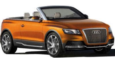 Présentation du concept-car AUDI CROSS CABRIOLET QUATTRO, le premier SUV cabriolet de l'histoire de l'automobile. Une bonne façon d'annoncer le futur SUV compact premium Audi Q5.