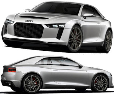 Présentation du concept-car Audi Quattro Concept.
