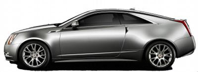Présentation de la <b>Cadillac CTS Coupé </b> de 2010.
