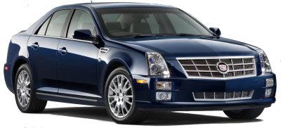 Présentation de la <b>Cadillac STS</b> de 2008.
