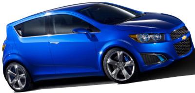 Présentation de la Chevrolet Aveo RS de 2011.