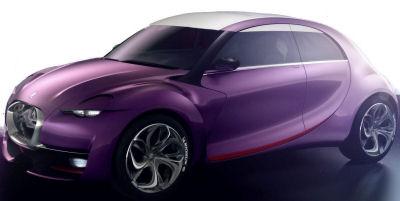 Présentation du concept car Citroën Revolte. Une descendante huppée, technologique de la 2CV. Une future Citroën DS2?.