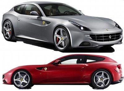 Présentation de la Ferrari FF de 2011.