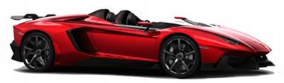 Présentation de la supercar <b>Lamborghini Aventador J</b> de 2012.