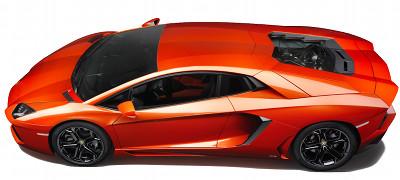 Présentation de la supercar <b>Lamborghini Aventador LP 700-4</b> de 2012.