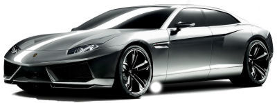 Présentation du concept-car <b>Lamborghini Estoque Concept</b> de 2008.