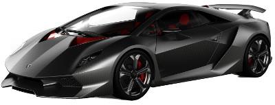 Présentation du concept car <b>Lamborghini Sesto Elemento</b> de 2010.