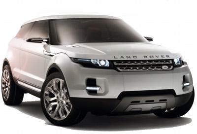 Présentation du concept-car Land-Rover LRX Concept de 2008, qui a annoncé fidèlement le futur SUV compact Range-Rover Evoque.