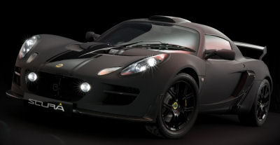 Présentation de la Lotus Exige Scura de 2010.