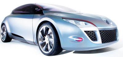Présentation du concept-car Renault Mégane Coupé Concept, qui annonce la future version coupé de la Renault Mégane 3. On note un retour de Renault à des lignes plus fluides et plus sportives..