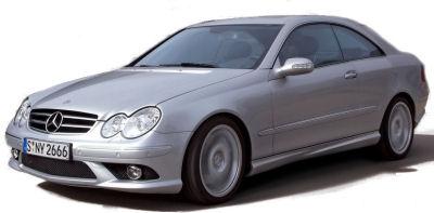 Présentation de la <b>Mercedes-Benz CLK 555 AMG</b> de 2005.