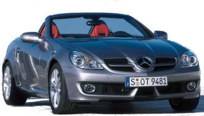 Présentation de la <b>Mercedes-Benz SLK</b> de 2008.