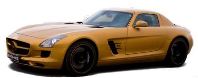 Mercedes-Benz a profité de la venue du grand cirque de la formule 1 à Dubaï pour présenter une version extrême, démesurée de son coupé Mercedes SLS AMG: la <b>Mercedes-Benz SLS AMG Desert Gold</b>. Un coupé de 571 ch (V8 de 6,3L), bien adapté à la démesure de ces lieux..