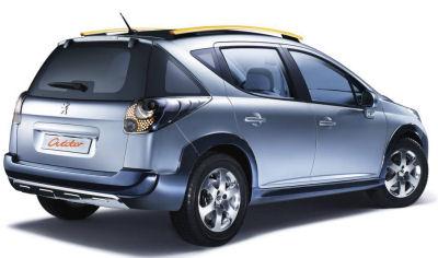 Basée sur la Peugeot 207 SW, le concept-car Peugeot 207 SW Outdoor annonce fidèlement la déclinaison
