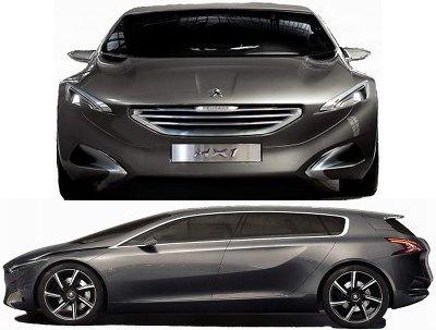 Le concept-car Peugeot HX1 continue de revisiter le nouveau design Peugeot. Ce monospace cross-over adopte une modularité intérieure originale, avec 3 rangées de 2 sièges: les sièges milieu peuvent avancer et s'intégrer dans le dossier des sièges avant, libérant un espace énorme aux passagers arrière.<br>L'aérodynamique de ce concept-car Peugeot HX1 est également particulièrement soignée, avec divers appendices aérodynamiques sortant de la carrosserie à haute vitesse pour réduire la traînée du véhicule.<br><br> Cette Peugeot HX1 est motorisée par le système hybride Hybrid4 de Peugeot, couplant un moteur diesel HDI de 2.2L avec un moteur électrique de 95 ch positionné sur l'essieu arrière, et assurant un mode de fonctionnement en 4x4 en option.