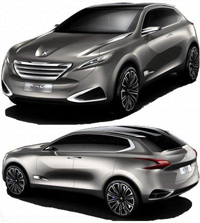 Le concept-car Peugeot SXC a été créé par le bureau de design chinois de Peugeot, installé à Shanghai. En reprenant la fameuse calandre flottante inaugurée par le concept Peugeot SR1, cette SXC est un SUV compact, agressif et sportif, avec un fort contenu technologique.