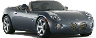 Présentation du Roadster Pontiac Solstice de 2006, étroitement dérivé du concept-car de même nom (salon de l'auto, Détroit, 2002).
