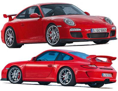 Présentation de la nouvelle Porsche 911 GT3 de 2010.