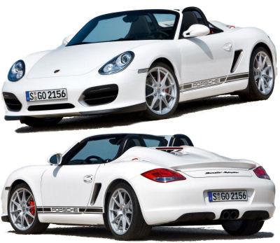 Présentation de la nouvelle Porsche Boxster Spyder de 2010.