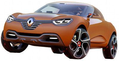 Le concept-car Renault Captur est un SUV compact, qui permet de poursuivre l'exploration du nouveau style Renault impulsé par Van den Acker.<br> Le Renault Captur est motorisé par un R9M bi-turbo de 160 ch (1.6L de cylindrée).