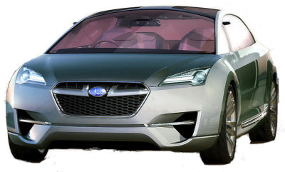 Présentation du concept-car innovant Subaru Hybrid Tourer Concept de 2009.