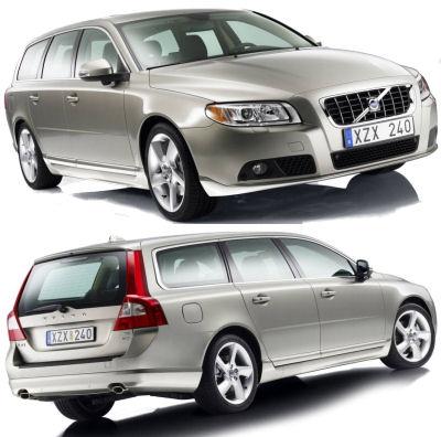 Présentation de la Volvo V70 de 2009.